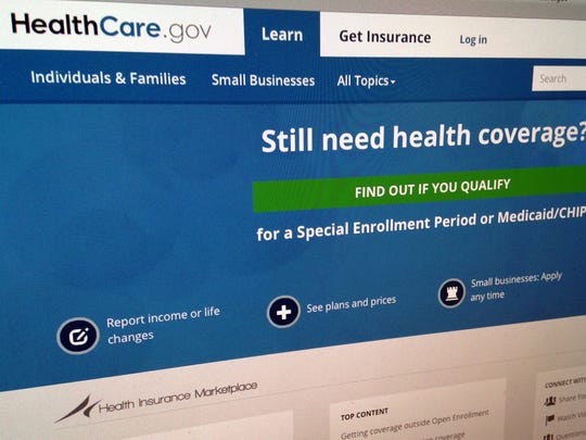 This 2014 file photo shows part of the HealthCare.gov website.