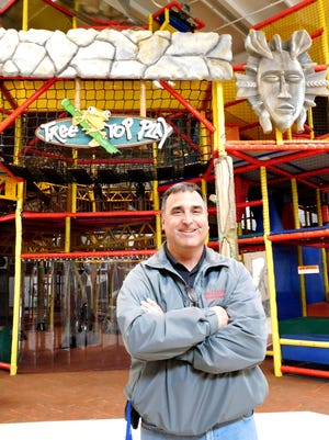 Bellevue Recreation Department Director Marc Weisenberger stands in front of the Jungle Junction Indoor Playground, which is the newest addition to the rec department.