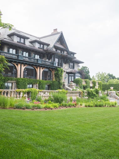 The lakeside home is Victorian in style, with bluestone bridal stairs leading to the yard.
