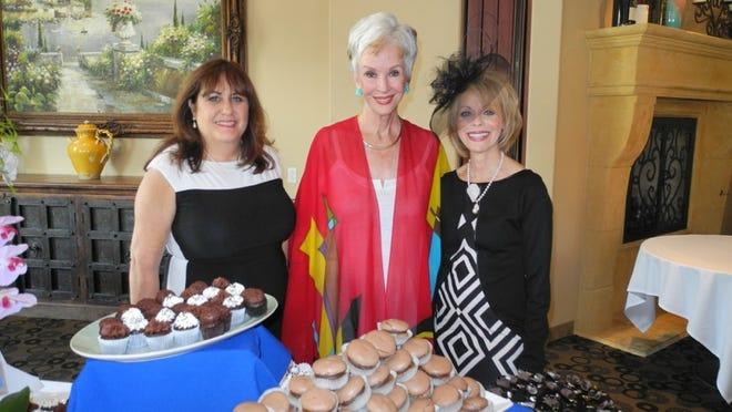 President Lisa Wherry, author Diana von Welanetz Wentworth, and event chair Janet Harris