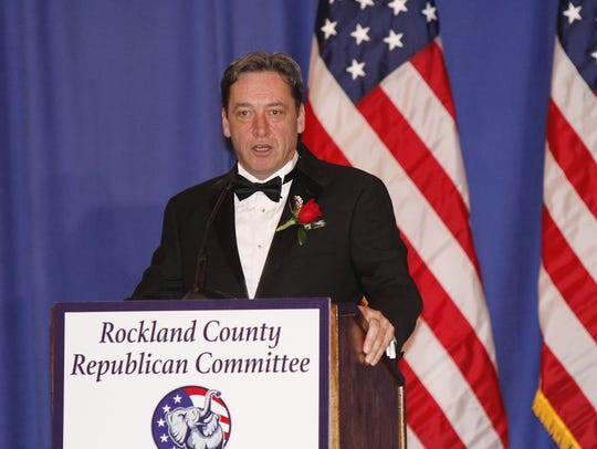 Rockland County Republican Committee Chairman Lawrence Garvey at the 2016 Rockland County Republican Committee's Lincoln Day Victory Ball at the Pearl River Hilton.