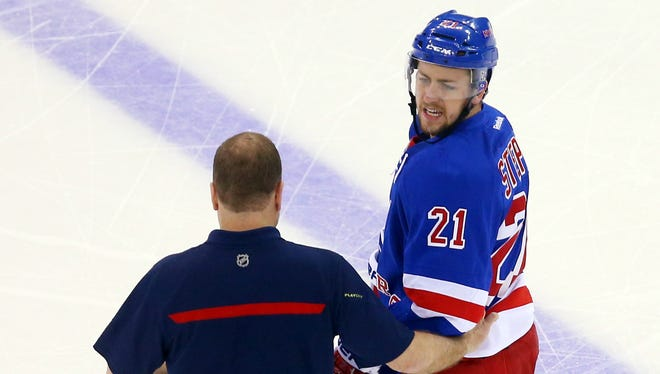 Rangers forward Derek Stepan suffered a broken jaw in Game 3 and needed surgery. It's unclear whether he will be ready for Sunday's Game 4.