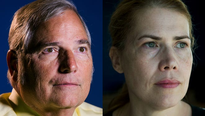 VA whistleblowers Sam Foote (left) and Katherine Mitchell are our Arizonans of the Year.