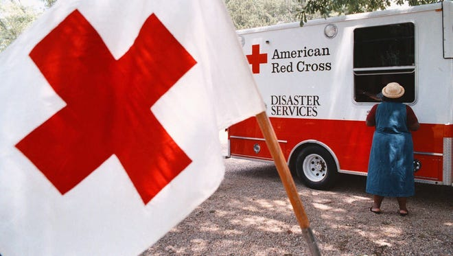 This photo shows a Red Cross disaster relief van in 1998.