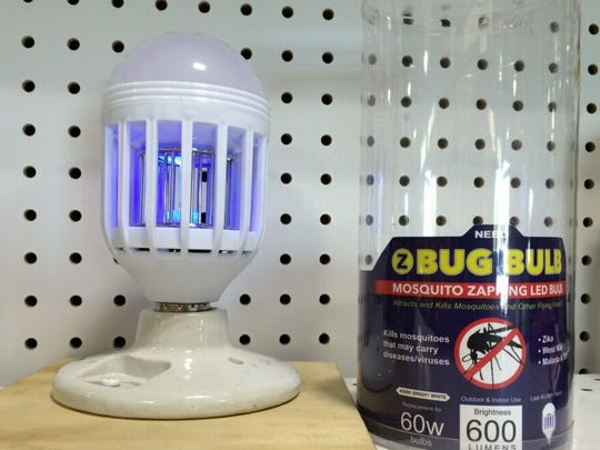 The mosquito zapping bug bulb is one of many LED products available at Marco Island's Sunshine Ace Hardware. The store is hosting an LED transition event tomorrow night from 6:30 to 8:30 p.m.