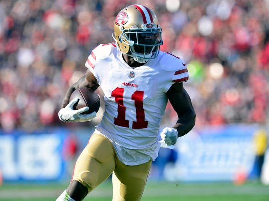 Ex-Bills receiver Marquise Goodwin has blossomed with the 49ers.