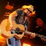 Jason Aldean performs at CMA Fest at LP Field Friday June 6, 2014, in Nashville, TN.