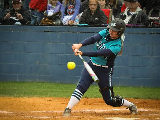 Siegel's Kristin Lee swings at a pitch during the Stars'