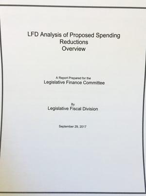 Legislative Fiscal Division report looks at proposed budget cuts.