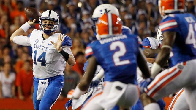Quarterback Patrick Towles and Kentucky were close to a road victory at Florida early last season.