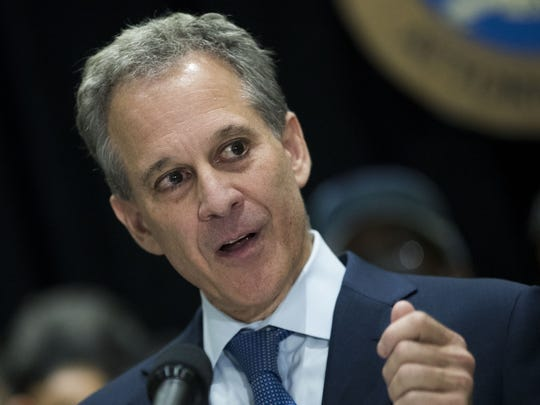 New York Attorney General Eric Schneiderman on Sept.