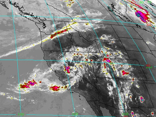 This is a National Weather Service satellite image of the weather system moving through the area.