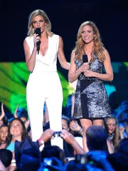 Erin Andrews, left, and Brittany Snow were hosts of