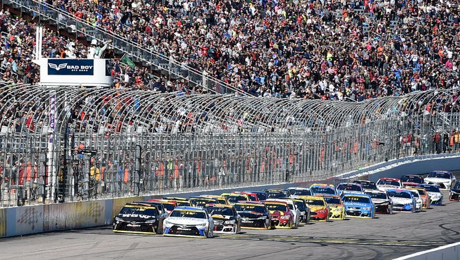 NASCAR Sprint Cup Series drivers take the green flag Sunday at New Hampshire Motor Speedway.
