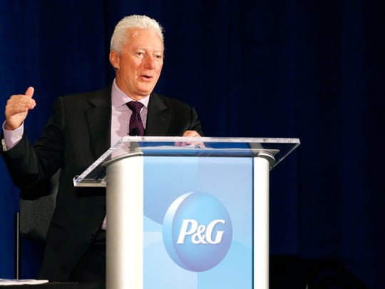 A.G. Lafley addresses stockholders at Procter & Gamble's 2014 annual meeting.