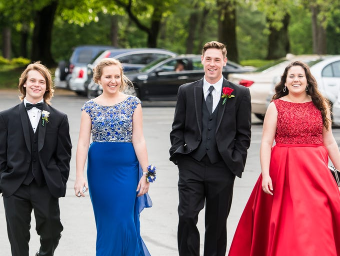 Students attend Hanover High School's prom at the Hanover