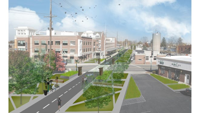 The proposed Nickel Plate Trail through Fishers at 116th  Street.