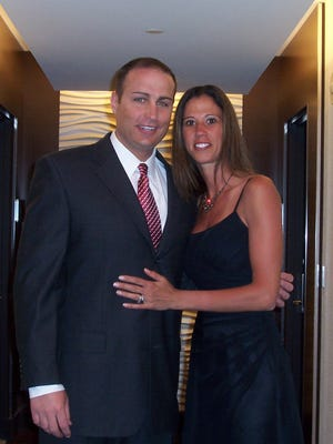 Tiffany Lill of Webster, here with her husband Jim Lill, died in 2012 of sarcoma cancer. She was 39.