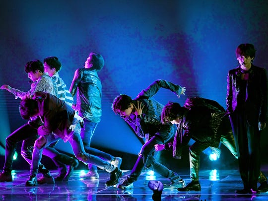 BTS performs onstage during the 2018 Billboard Music Awards at MGM Grand Garden Arena on May 20, 2018 in Las Vegas, Nevada.