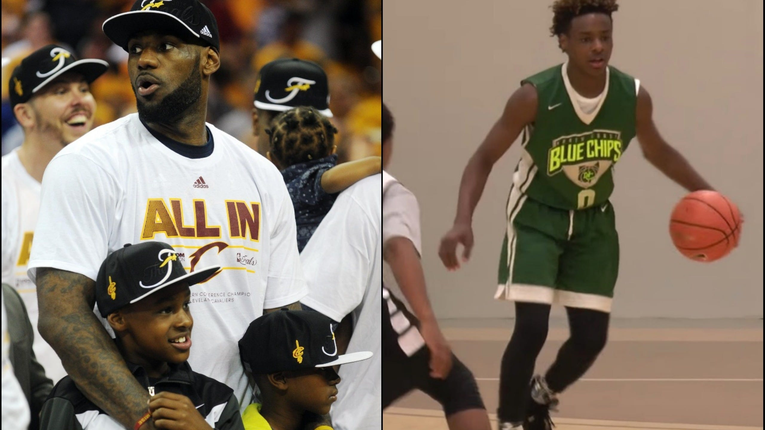 new style 3ab34 4abf3 LeBron reflects on his 13-year-old son's career