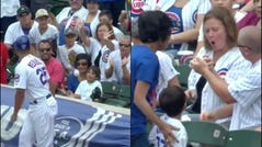 Cubs intervene after fan steals ball from child