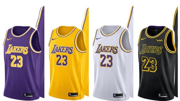 85c4bde8c6f LeBron James' jersey T-shirts could hint the changes to the Lakers' new