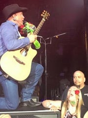 During a show in Omaha last May, Garth Brooks bent