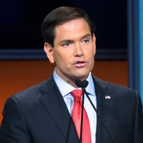 Republican presidential candidate Marco Rubio