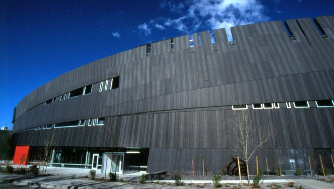 Designed by architect Will Bruder, the Nevada Museum of Art's building is a tribute to the unique geological formations of the Black Rock Desert.