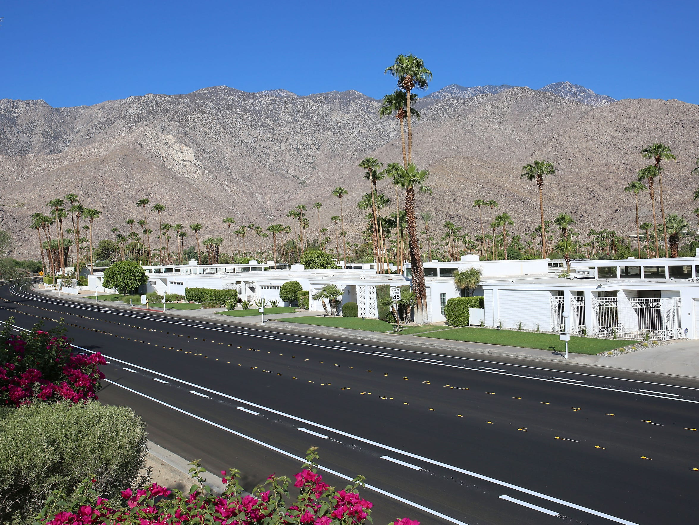 Homes in the Indian Canyons neighborhood in Palm Springs.