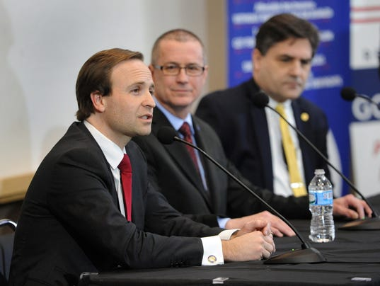 Brian Calley, Dr. Jim Hines, Senator Patrick Colbeck