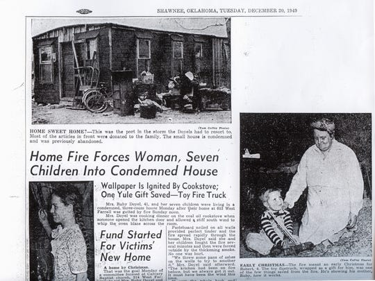 This 1949 article details how Ruby Doyel and her family