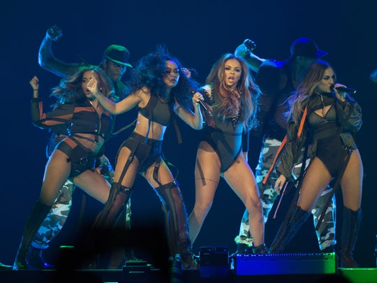 Little Mix performs at Talking Stick Resort Arena on Feb. 3, 2017 in Phoenix.