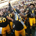 Linebacker Antonio Longino (32) is the first ASU player to win Pac-12 Defensive Player of the Week in consecutive weeks.