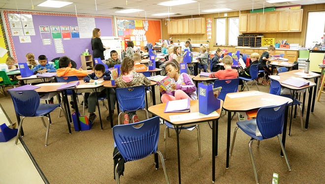 Increased enrollment at Friendship Learning Center is causing larger amounts of students in classrooms like this 3rd grade room. Doug Raflik/USA TODAY NETWORK-Wisconsin