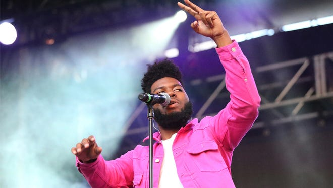Singer-songwriter Khalid performs to an enthusiastic hometown crowd at the Neon Desert Music Festival 2017 Sunday night, May 28, 2017 in downtown El Paso.
