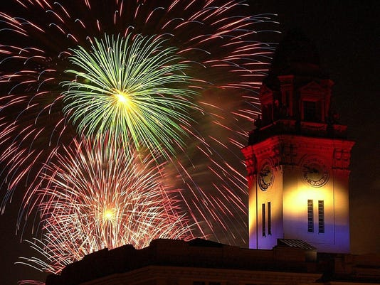 COVER PHOTO Yonkers fireworks over city hall