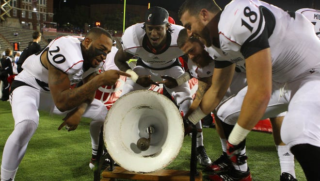 The Bearcats hope to keep the Victory Bell in Cincinnati for the ninth year in a row.