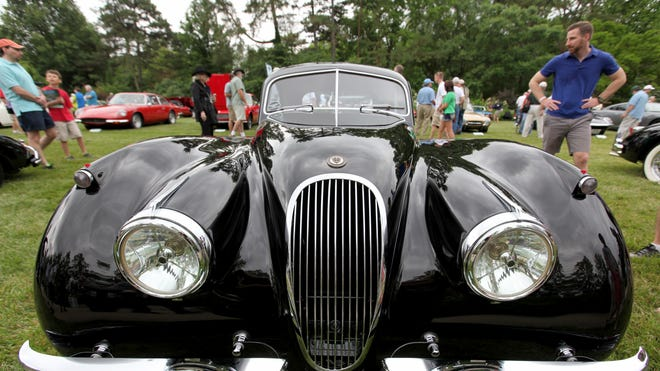 Concours d'Elegance takes place Sunday, June 13, at Ault Park. Pictured: A 1953 Jaguar XK120 Fixed Head Coupe FHC owned by the Ingram Collection was on display at a previous year's event.