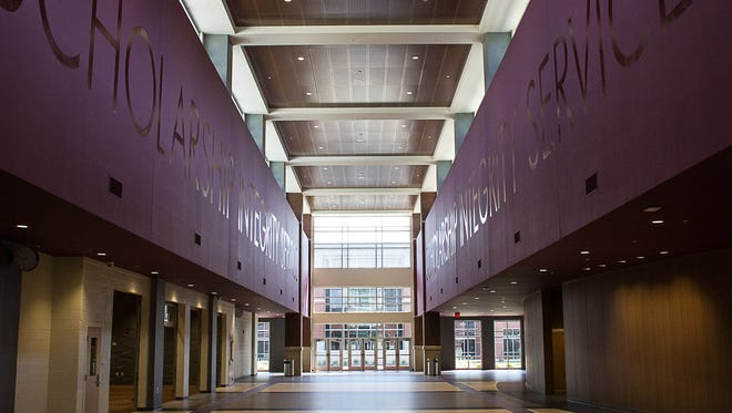 Main hall in the new Collierville High.