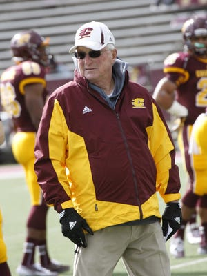 Central Michigan offensive coordinator Morris Watts is entering his 52nd season coaching football. Watts' career includes three coaching stints at Michigan State.