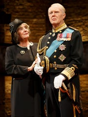Margot Leicester as Camilla, Prince Charles' wife,