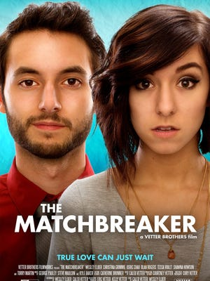"""The Matchbreaker,"" starring Christina Grimmie and Wesley Elder, will be screened in Cherry Hill at 6:30 p.m. Thursday. Grimmie's debut film, about a professional match-breaker who meets his match, will be digitally released Dec. 6."