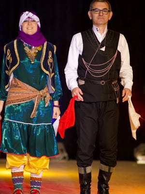 Turkish dancers are among the many ethnic ensembles performing at Holiday Folk Fair International.
