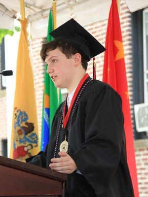 Nicholas Micheletti was salutatorian of the Pennington School Class of 2018.