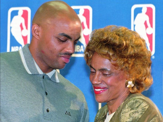 Charcey Glenn was on hand to see Charles Barkley receive