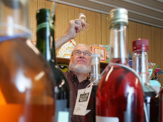 Wine judging at Coshocton County Fair.