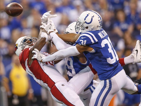 Rookie cornerback Quincy Wilson made a key pass breakup in a narrow loss to the Cardinals in Week 2. He hasn't seen the field since.