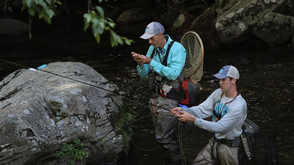 John Zimmerman and Taylor Sharp, fishing in the Cherokee Classic, will hold the sixth annual Casting for Hope Gold-Level Fly-Fishing Competition to help women with cancer.