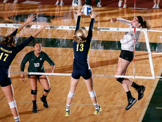 Michigan at Michigan State Volleyball